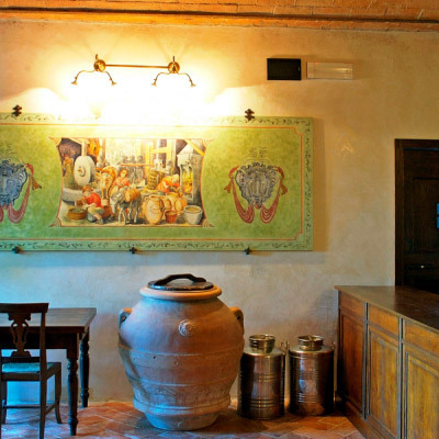 Medieval resort with olive oil tasting