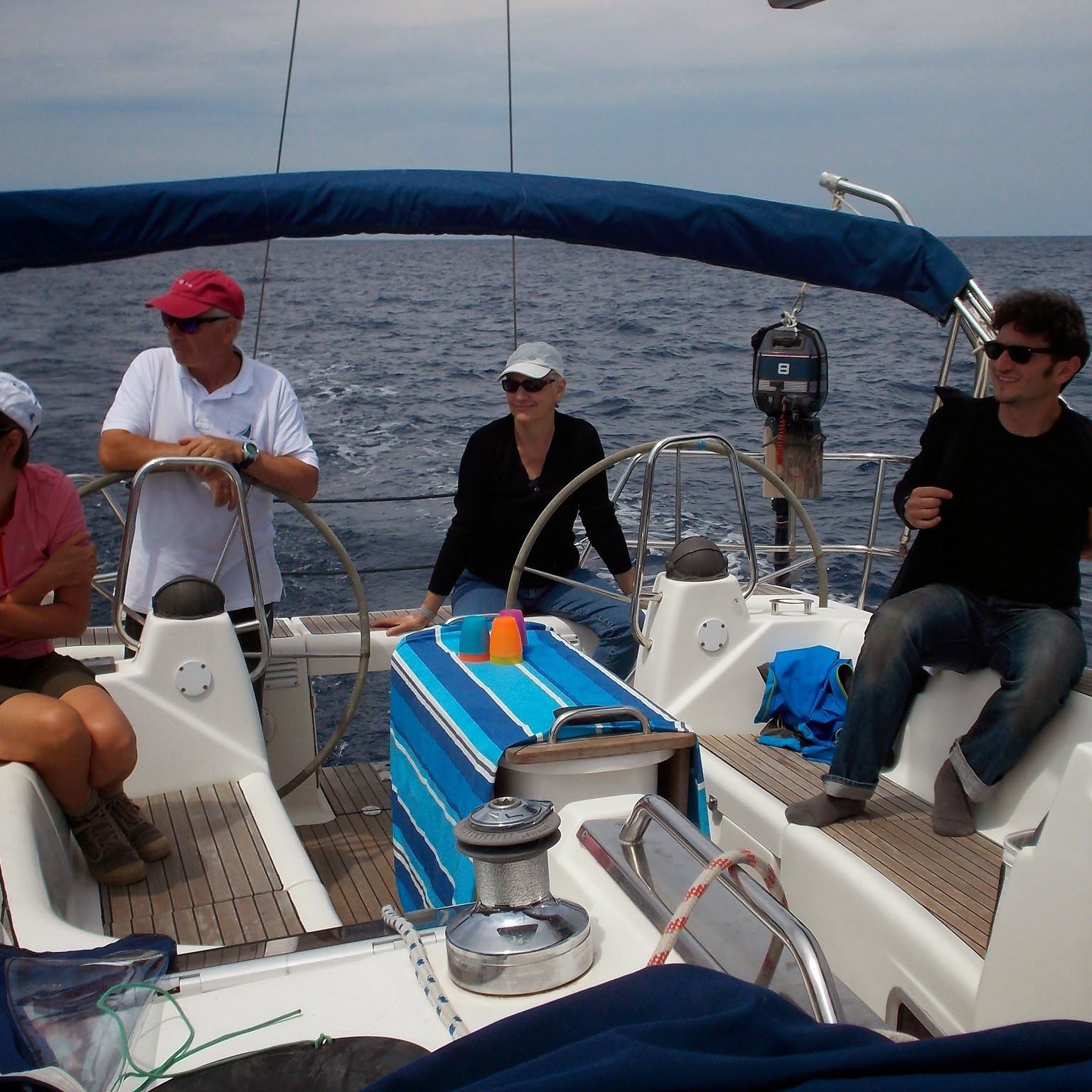 Sail boat with aperitivo on board
